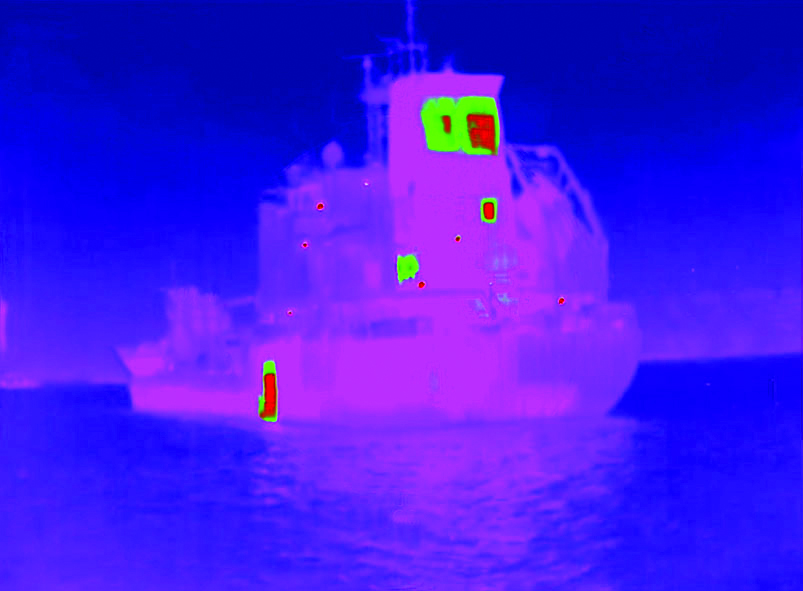 Ship in thermal night vision
